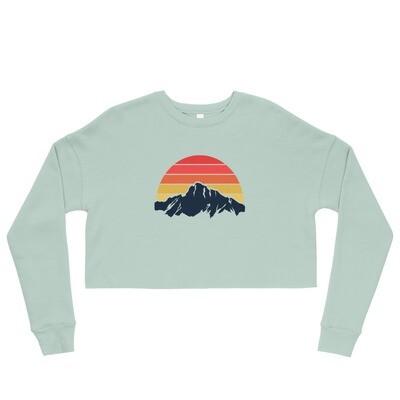 Mountain Sunset - Crop Sweatshirt (Multi Colors)