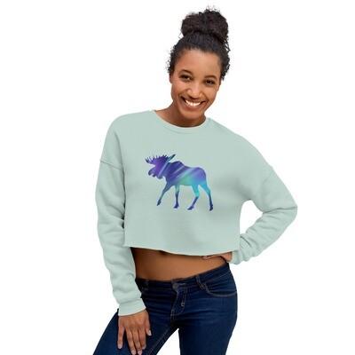 Aurora Moose - Crop Sweatshirt (Multi Colors)
