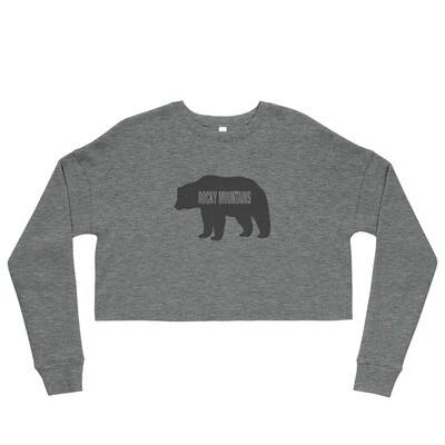 Rocky Mountain Bear - Crop Sweatshirt (Multi Colors)
