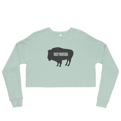 Rocky Mountains Bison - Crop Sweatshirt (Multi Colors)