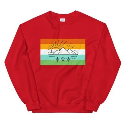 Vintage Mountain Sunset - Sweatshirt (Multi Colors)