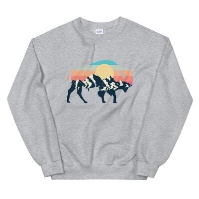 Landscape Sunset Bison - Sweatshirt (Multi Colors)