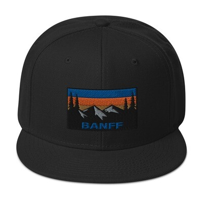 Banff Alberta Canada - Snapback Hat (Multi Colors) Canadian Rocky Mountains