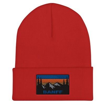Banff Alberta Canada - Cuffed Beanie (Multi Colors) Canadian Rockies