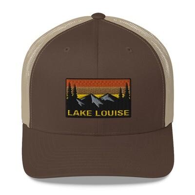 Lake Louise Alberta - Trucker Cap (Multi colors) Canadian Rocky Mountains