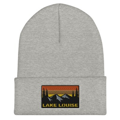 Lake Louise Alberta - Cuffed Beanie (Multi Colors) Canadian Rocky Mountains