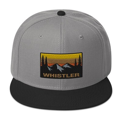 Whistler British Columbia - Snapback Hat (Multi Colors) Canadian Rocky Mountains