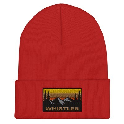 Whistler British Columbia - Cuffed Beanie (Multi Colors) Canadian Rocky Mountains