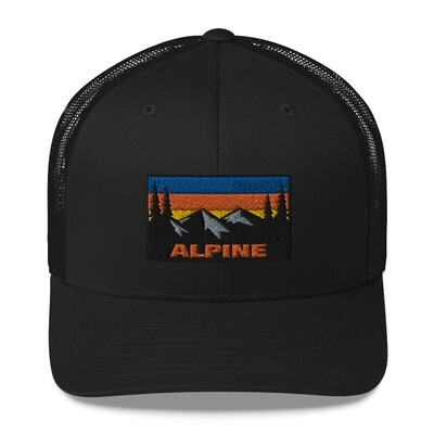 Alpine - Trucker Cap (Multi Colors) The Rockies Canadian American Rocky Mountains