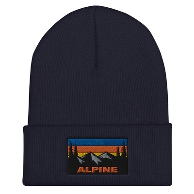 Alpine - Cuffed Beanie (Multi Colors) The Rockies Canadian American Rocky Mountains