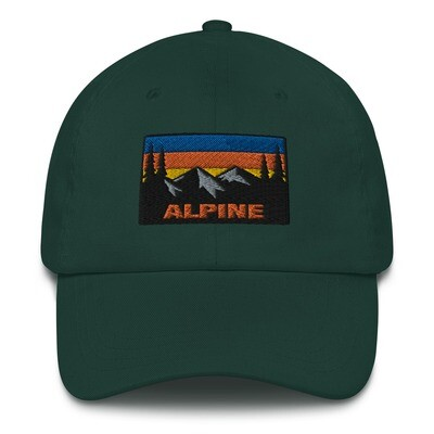 Alpine - Baseball / Dad hat (Multi Colors) The Rockies Canadian American Rocky Mountains
