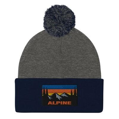 Alpine - Pom-Pom Beanie (Multi Colors) The Rockies Canadian American Rocky Mountains