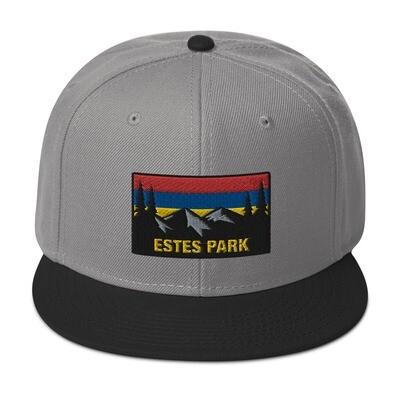 Estes Park Colorado - Snapback Hat (Multi Colors) The Rockies American Rocky Mountains