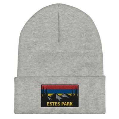 Estes Park Colorado - Cuffed Beanie (Multi Colors) The Rockies American Rocky Mountains