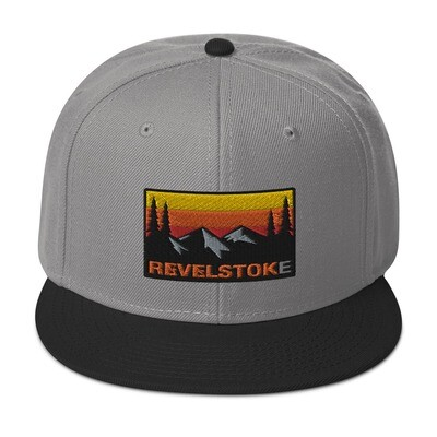 Revelstoke British Columbia - Snapback Hat (multi Colors) The Rockies Canadian Rocky Mountains