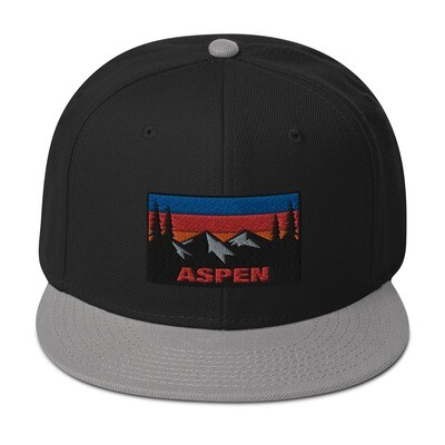 Aspen Colorado - Snapback Hat (Multi Colors) The Rockies American Rocky Mountains