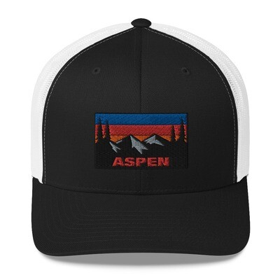 Aspen Colorado - Trucker Cap (Multi Colors) The Rockies American Rocky Mountains