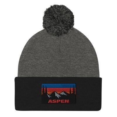 Aspen Colorado - Pom-Pom Beanie (Multi Colors) The Rockies American Rocky Mountains