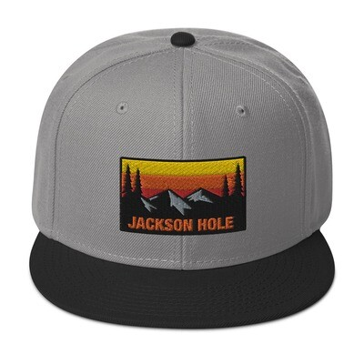 Jackson Hole Wyoming - Snapback Hat (Multi Colors) The Rockies American Rocky Mountains