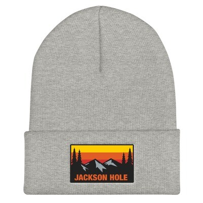 Jackson Hole Wyoming - Cuffed Beanie (Multi Colors) The Rockies American Rocky Mountains