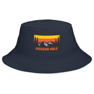 Jackson Hole Wyoming - Bucket Hat (Multi Colors) The Rockies American Rocky Mountains
