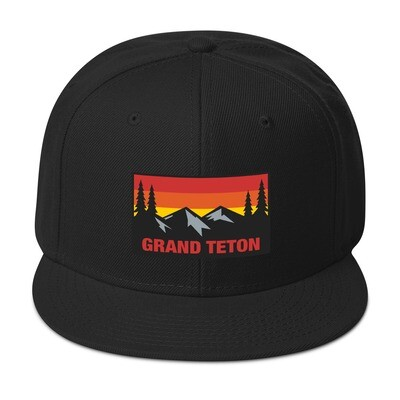 Grand Teton Wyoming - Snapback Hat (Multi Colors) The Rockies American Rocky Mountains