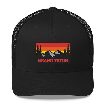 Grand Teton Wyoming - Trucker Cap (Multi Colors) The Rockies American Rocky Mountains