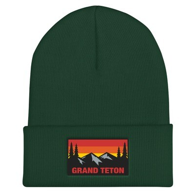 Grand Teton Wyoming - Cuffed Beanie (Multi Colors) The Rockies American Rocky Mountains