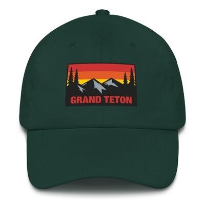Grand Teton Wyoming - Baseball / Dad hat (Multi Colors) The Rockies American Rocky Mountains