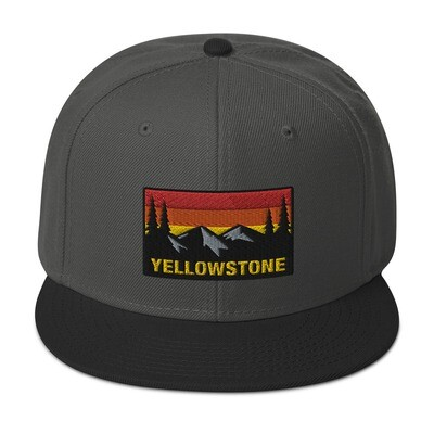 Yellowstone Wyoming Montana Idaho - Snapback Hat (Multi Colors) The Rockies American Rocky Mountains