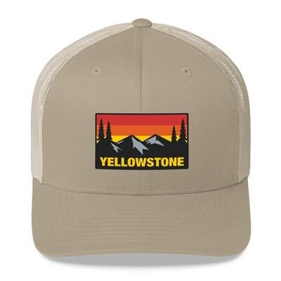 Yellowstone Wyoming Montana Idaho - Trucker Cap (Multi Colors) The Rockies American Rocky Mountains