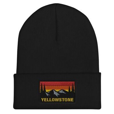 Yellowstone Wyoming Montana Idaho - Cuffed Beanie (Multi Colors) The Rockies American Rocky Mountains