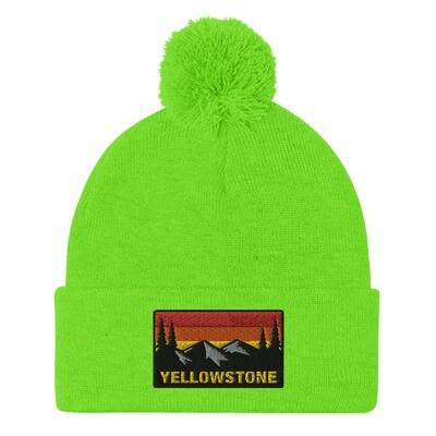 Yellowstone Wyoming Montana Idaho - Pom-Pom Beanie (Multi Colors) The Rockies American Rocky Mountains