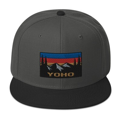 Yoho British Columbia - Snapback Hat (Multi Colors) The Rockies Canadian Rocky Mountains