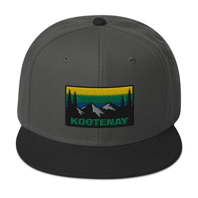 Kootenay British Columbia - Snapback Hat (Multi Colors) The Rocky Mountains Canadian Rockies