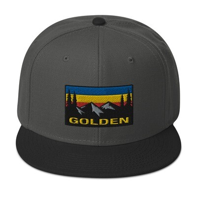 Golden British Columbia - Snapback Hat (Multi Colors) The Rocky Mountains Canadian Rockies