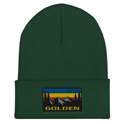 Golden British Columbia - Cuffed Beanie (Multi Colors) The Rocky Mountains Canadian Rockies