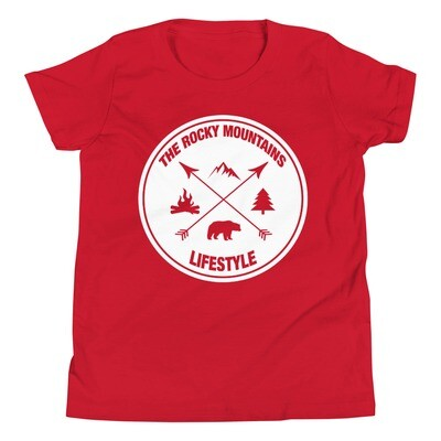 The Rocky Mountain Lifestyle - Youth T-Shirt (Multi Colors) Canadian American Rockies