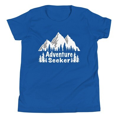 Adventure Seeker - Youth T-Shirt (Multi Colors) The Rocky Mountains