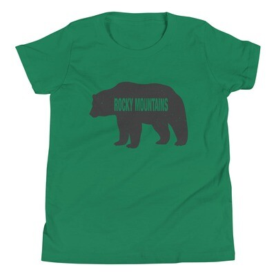 Rocky Mountain Bear - Youth T-Shirt (Multi Colors) The Canadian American Rockies