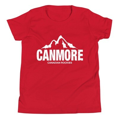 Canmore Alberta Canada - Youth T-Shirt (Multi Colors) The Rockies Canadian Rocky Mountains