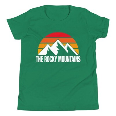 The Rocky Mountains - Youth T-Shirt (Multi Colors) The Canadian American Rockies