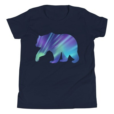 Aurora Bear - Youth T-Shirt (Multi Colors) The Rocky Mountains, Canadian, American Rockies