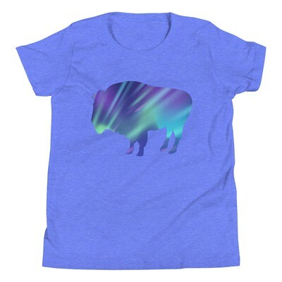 Aurora Bison - Youth T-Shirt (Multi Colors) The Rockies, Canadian American Rocky Mountains