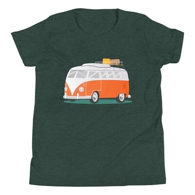 Campervan -  Youth T-Shirt (Multi Colors) The Rocky Mountains, Canadian American Rockies