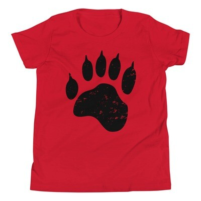 Bear Paw - Youth T-Shirt (Multi Colors) The Rockies, Canadian American Rocky Mountains