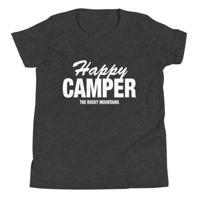 Happy Camper - Youth T-Shirt (Multi Colors) The Rocky Mountains Canadian American Rockies