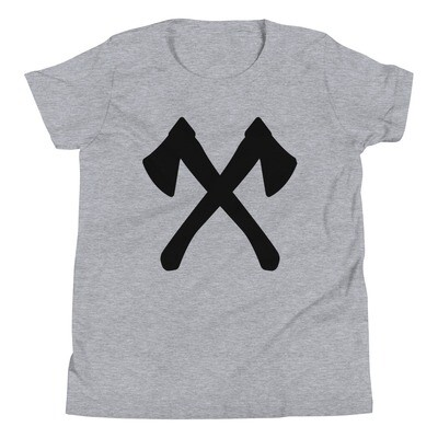 Crossed Axe - Youth T-Shirt (Multi Colors)