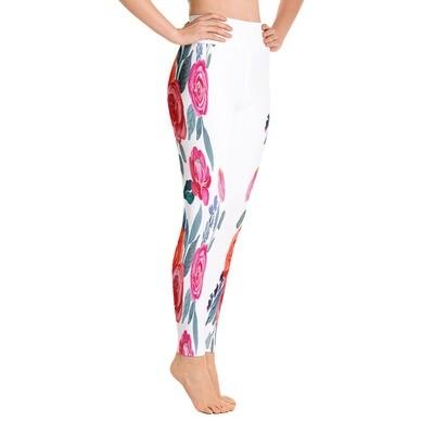 Floral Side - High Waisted Leggings