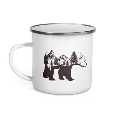 Bear Landscape - Enamel Mug